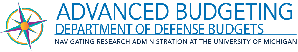 Advanced Budgeting - Department of Defense Budgets