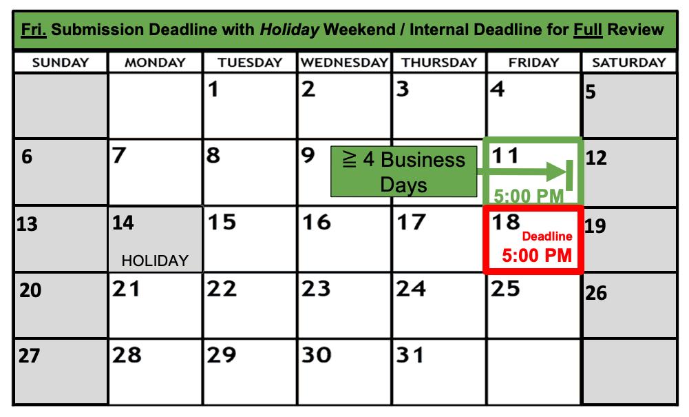 Deadline Calendar - Holiday - Friday - Full Review