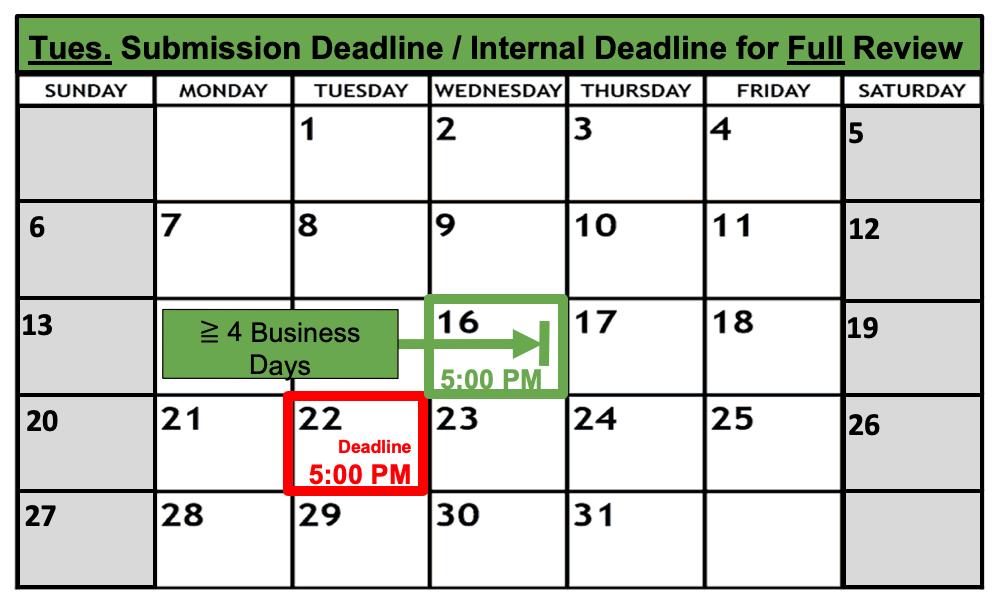 Deadline Calendar - Tuesday - Full Review
