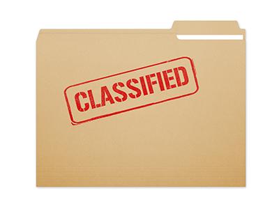 image of a classified file folder