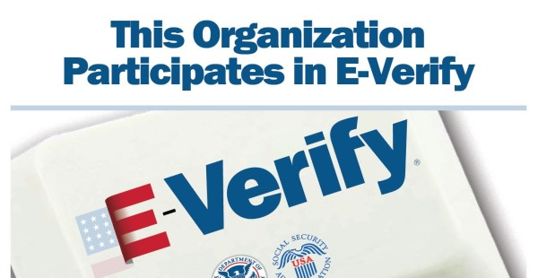 e-verify: this organization participates in EVerify