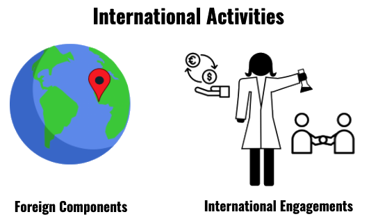 international activities foreign components intl engagements