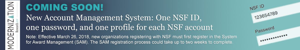 Important New Nsf User Accounts Coming Monday March 26 2018 Orsp